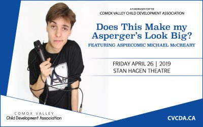 CVCDA welcomes AspieComic to the Comox Valley, April 26