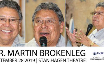 Dr. Martin Brokenleg comes to the Comox Valley, September 28
