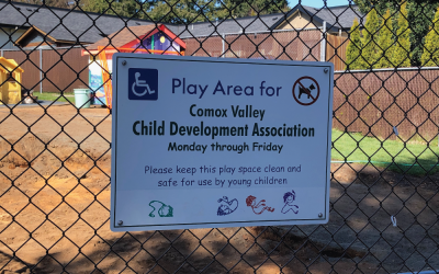The CVCDA Outdoor Play Space's rejuvenation provides a fresh take on play