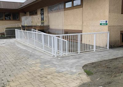 Completed lower ramp